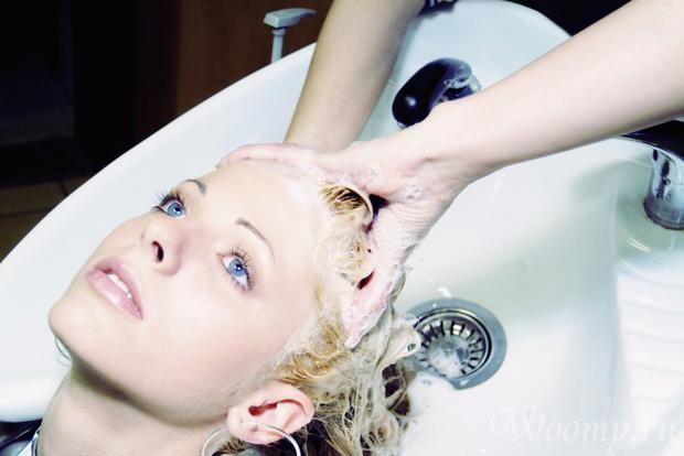 смывка краски с волос