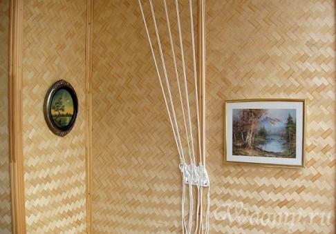 Дизайн бамбуковыми обоями