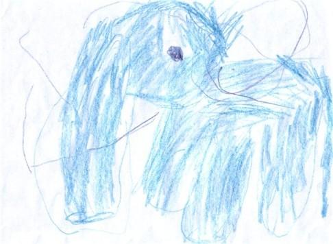 ребенок нарисовал рисунок