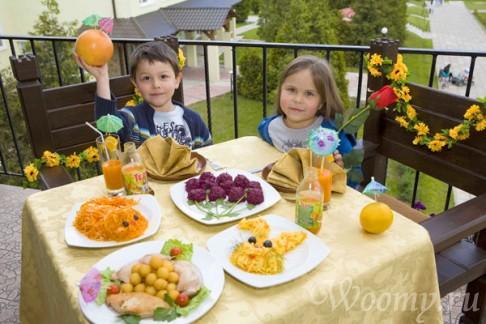 Питание на семейном отдыхе в Подмосковье
