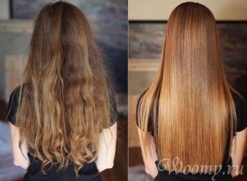 Японское выпрямление волос.