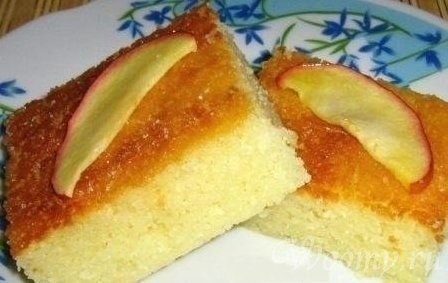 Греческий пирог из манки