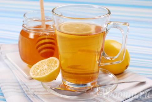 чай с лимоном, медом