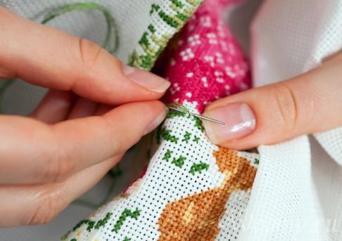 Процесс вышивания