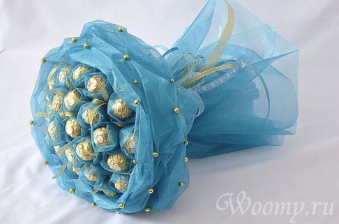 Букет с конфет своими руками пошаговая инструкция