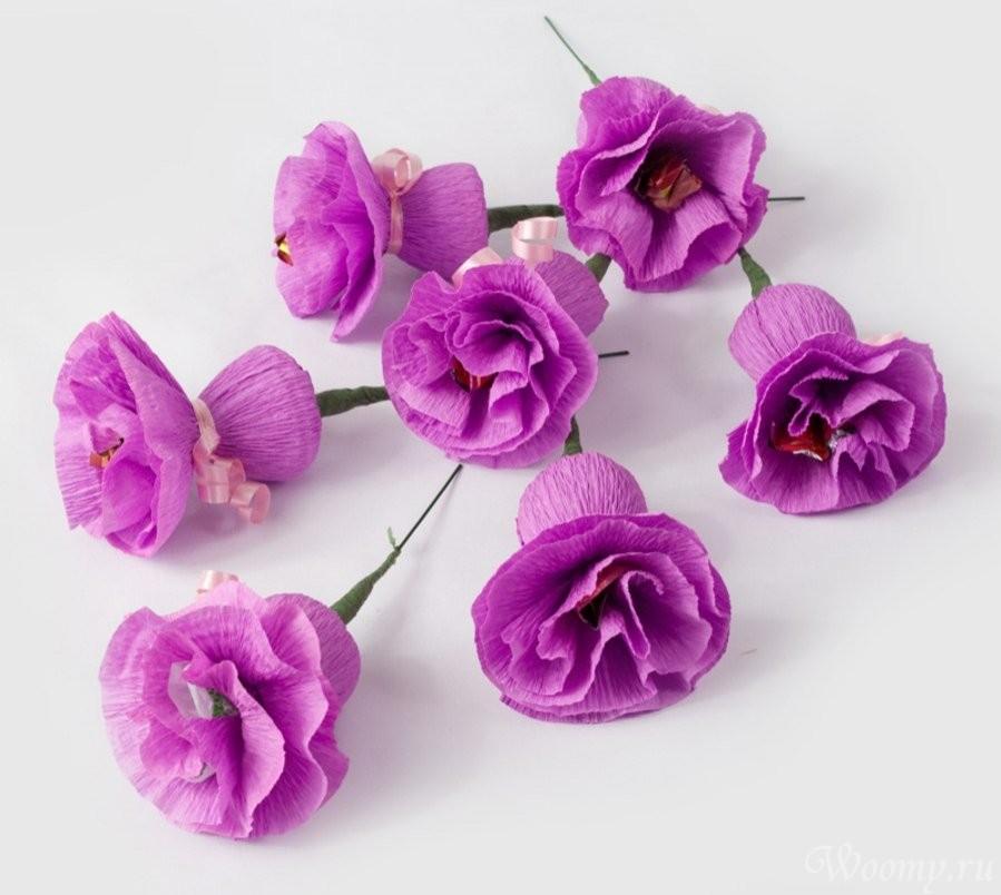 Цветы из конфет своими руками для начинающих фото